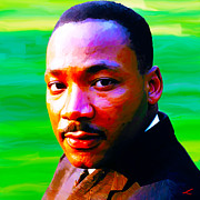 Martin Luther King Jr Digital Art Posters - Dream-maker  Poster by Scott Laffin