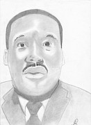 Martin Luther King Jr Drawings Posters - Dream Of a King Poster by Greg Sarpy Jr
