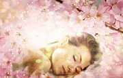 Cherry Blossoms Digital Art Metal Prints - Dream of Spring Metal Print by Gun Legler