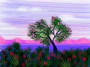 Cherry Blossoms Painting Metal Prints - Dream of Spring Metal Print by Judy Via-Wolff