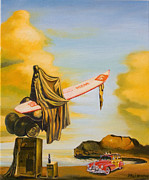 Color Image Paintings - Dream on the beach by Dali - The Amadeus series by Dominique Amendola