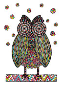 Bird Digital Art Posters - Dream Owl Poster by Susan Claire
