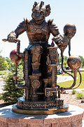 Redeemer Art - Dream Redeemer Bronze Sculpture of Steam Punk Flying Monkey Sterling Colorado by Robert Ford