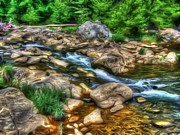 Landscape. Mountain Trees Water Bush Art - Dream Stream by Dan Stone