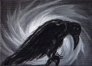Crow Prints - Dream the crow black dream. Print by Rouble Rust