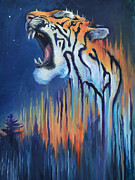 Tiger Dream Framed Prints - Dream Tiger Framed Print by Melissa Peterson