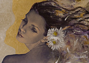 Romantic Art Painting Framed Prints - Dream Traveler Framed Print by Dorina  Costras