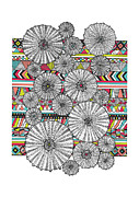 Navajo Prints - Dream Urchins Print by Susan Claire