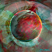 Energy Art Prints - Dream Weaving Print by Robin Moline