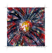 Star Burst Paintings - Dreamburst by Melinda Fawver