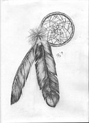 Dreamcatcher Drawings - Dreamcatcher by Jude Rose Ickes