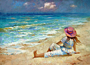 Caribbean Sea Paintings - Dreamer by Dmitry Spiros