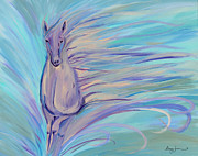 Wild Horse Paintings - Dreamer by Stacey Zimmerman