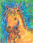 Forelock Painting Framed Prints - Dreamhorse Framed Print by Amanda Pierce