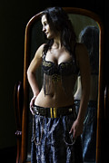 Peter Turner Metal Prints - Dreaming belly dancer Metal Print by Peter Turner