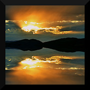 Sunset Framed Prints Digital Art Posters - Dreaming Poster by Kevin Bone