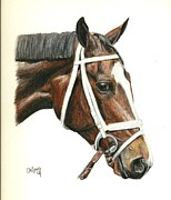 Thoroughbred Race Paintings - Dreaming Of Julia by Pat DeLong