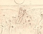 Poppies Field Drawings - Dreaming of Morpheus Sketch by Coriander  Shea
