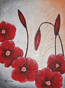 Abstract Floral Art Paintings - Dreaming of spring by Mariya Kazarinova
