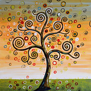 Circles Prints - Dreaming Tree Print by Amy Giacomelli
