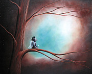 Fantasy Cats Paintings - Dreams Can Take You Far by Shawna Erback by Shawna Erback