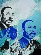 Martin Luther King Mixed Media Posters - Dreams II Poster by Chad Rice