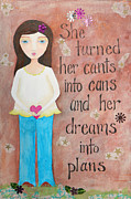 Plans Mixed Media - Dreams into Plans by Brandy Gerber