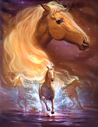 Horses Drawings Prints - Dreams need hope to run free Print by Jeff Haynie