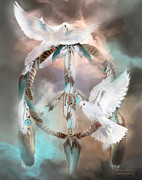 Dreamcatcher Posters - Dreams Of Peace Poster by Carol Cavalaris