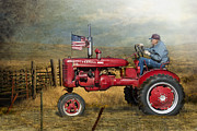 Farmall Red Posters - Dreams of Yesteryear Poster by Betty LaRue