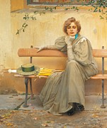Glove Painting Framed Prints - Dreams  Framed Print by Vittorio Matteo Corcos