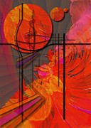 Tangerine Digital Art Prints - Dreamscape 06 - TANGERINE DREAM Print by Mimulux patricia no