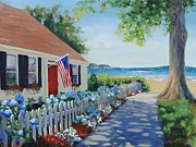Cape Cod Painting Metal Prints - Dreamscape Metal Print by Laura Lee Zanghetti