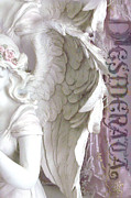 Angel Art By Kathy Fornal Photos - Dreamy Angel Art - Angel Wings Desiderata  by Kathy Fornal