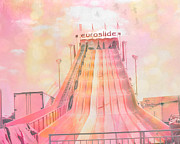 Summer Festival Art Prints - Dreamy Baby Pink Carnival Ride - Euroslide Print by Kathy Fornal