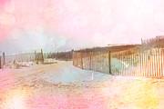 Dreamy Cottage Summer Beach Ocean Coastal Art Print by Kathy Fornal
