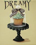 Folk Art Paintings - Dreamy Cupcake by Catherine Holman
