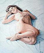 Female Nude Drawings - Dreamy by Joseph Ogle