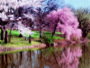 Waterway Digital Art - Dreamy Spring by Zeana Romanovna