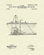 Precious Metals Posters - Dredger 1900 Patent Art Poster by Prior Art Design