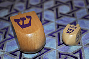 Hanuka Prints - Dreidel Dreidel Print by Roger Reeves  and Terrie Heslop