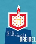 Featured Mixed Media Posters - Dreidels Poster by Linda Woods