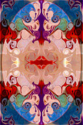 Drenched In Awareness Abstract Healing Artwork By Omaste Witkows Print by Omaste Witkowski