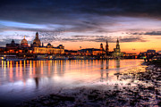 Architektur Metal Prints - Dresden Sunset Metal Print by Steffen Gierok
