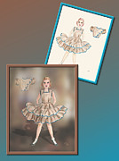 Fashion Design Drawings Framed Prints - Dress Design 12 Framed Print by Judi Quelland