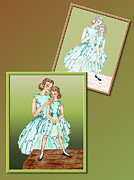 Fashion Design Drawings Framed Prints - Dress Design 14 Framed Print by Judi Quelland