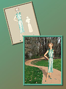 Garden Drawings - Dress Design 24 by Judi Quelland