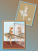 Ballet Drawings Posters - Dress Design 38 Poster by Judi Quelland
