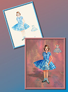 Fashion Design Drawings Framed Prints - Dress Design 9 Framed Print by Judi Quelland
