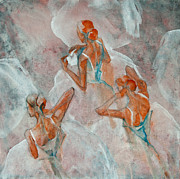 Ballerinas Paintings - Dress Rehearsal by Jani Freimann